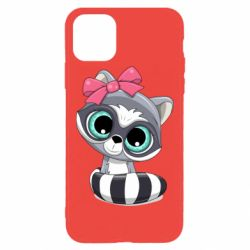 Чехол для iPhone 11 Pro Max Cute raccoon