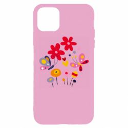 Чехол для iPhone 11 Pro Max Flowers and Butterflies