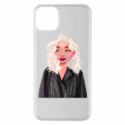 Чохол для iPhone 11 Pro Max Girl in a leather jacket