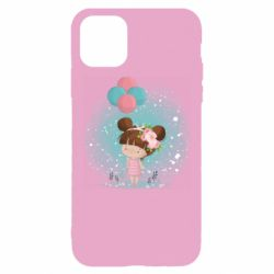 Чехол для iPhone 11 Pro Max Girl with balloons