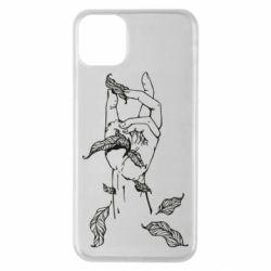 Чохол для iPhone 11 Pro Max Hand with leafs