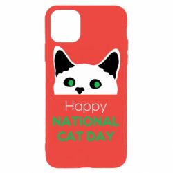 Чехол для iPhone 11 Pro Max Happy National Cat Day