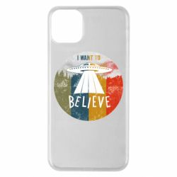 Чехол для iPhone 11 Pro Max I want to believe text