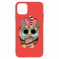 Чохол для iPhone 11 Pro Max Little owl with feathers