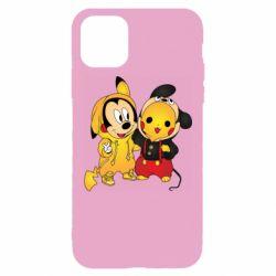 Чехол для iPhone 11 Pro Max Mickey and Pikachu