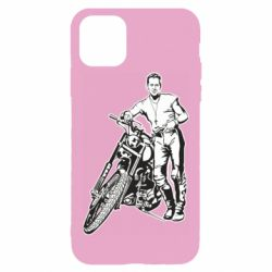 Чехол для iPhone 11 Pro Max Mickey Rourke and the motorcycle