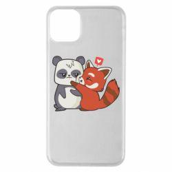 Чохол для iPhone 11 Pro Max Panda and fire panda