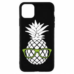 Чехол для iPhone 11 Pro Max Pineapple with glasses