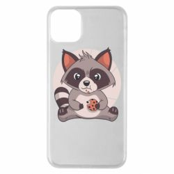 Чохол для iPhone 11 Pro Max Raccoon with cookies