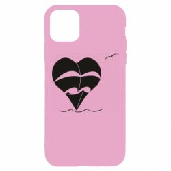 Чехол для iPhone 11 Pro Max Ship and heart