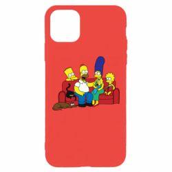 Чехол для iPhone 11 Pro Max Simpsons At Home