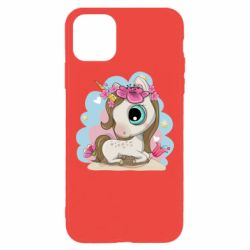 Чохол для iPhone 11 Pro Max Unicorn with flowers