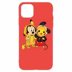 Чехол для iPhone 11 Pro Mickey and Pikachu