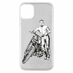 Чехол для iPhone 11 Pro Mickey Rourke and the motorcycle