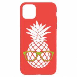 Чехол для iPhone 11 Pro Pineapple with glasses