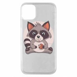 Чохол для iPhone 11 Pro Raccoon with cookies