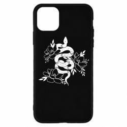 Чохол для iPhone 11 Pro Snake with flowers