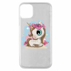 Чохол для iPhone 11 Pro Unicorn with flowers