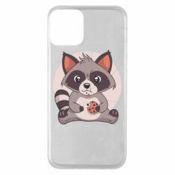 Чохол для iPhone 11 Raccoon with cookies
