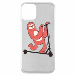 Чохол для iPhone 11 Sloth on a scooter