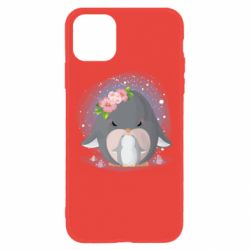 Чехол для iPhone 11 Two cute penguins