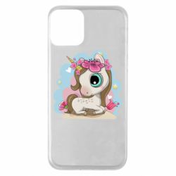 Чохол для iPhone 11 Unicorn with flowers
