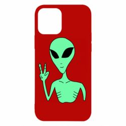 Чехол для iPhone 12/12 Pro Alien and two fingers
