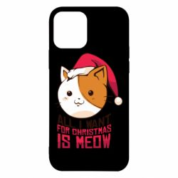 Чехол для iPhone 12/12 Pro All i want for christmas is meow