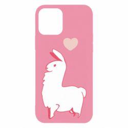 Чохол для iPhone 12/12 Pro Alpaca with a heart