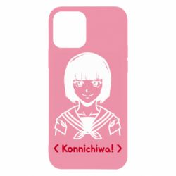 Чехол для iPhone 12/12 Pro Anime girl konichiwa