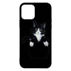 Чехол для iPhone 12/12 Pro Art cat in your pocket