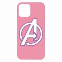 Чехол для iPhone 12/12 Pro Avengers and simple logo