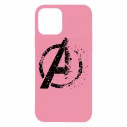 Чехол для iPhone 12/12 Pro Avengers logotype destruction