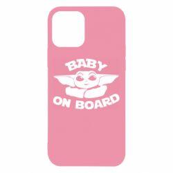 Чехол для iPhone 12/12 Pro Baby on board yoda