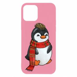 Чохол для iPhone 12/12 Pro Baby penguin with a scarf