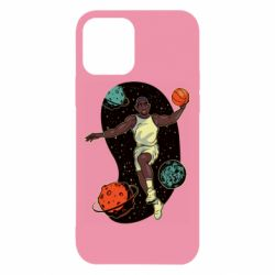 Чехол для iPhone 12/12 Pro Basketball player and space