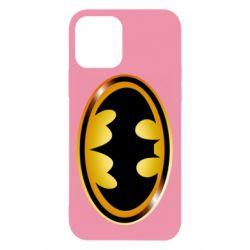 Чохол для iPhone 12/12 Pro Batman logo Gold