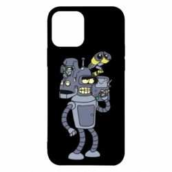 Чохол для iPhone 12 Bender and the heads of robots