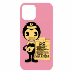 Чехол для iPhone 12/12 Pro Bendy and the Ink Machine staff rules