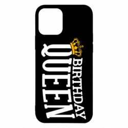 Чехол для iPhone 12/12 Pro Birthday queen and crown yellow