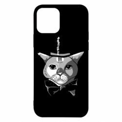 Чехол для iPhone 12/12 Pro Black and white cat intellectual