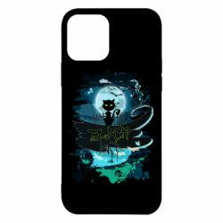Чехол для iPhone 12/12 Pro Black cat art