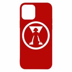 Чохол для iPhone 12/12 Pro Black Widow logo