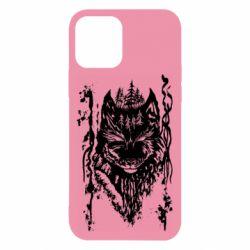 Чехол для iPhone 12/12 Pro Black wolf with patterns