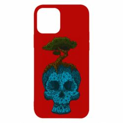 Чохол для iPhone 12/12 Pro Blue skull low poly and tree