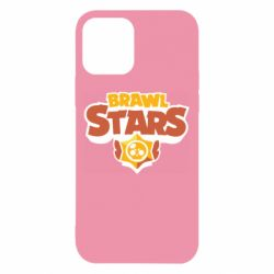 Чехол для iPhone 12/12 Pro Brawl Stars logo orang and yellow