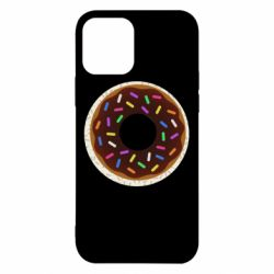 Чохол для iPhone 12/12 Pro Brown donut on a background of patterns