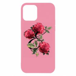 Чехол для iPhone 12/12 Pro Буква Е с розами
