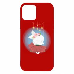 Чохол для iPhone 12 Bunny in a red dress