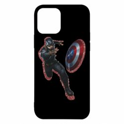 Чехол для iPhone 12/12 Pro Captain america with red shadow